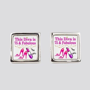 75 AND FABULOUS Square Cufflinks