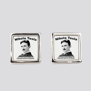 Tesla: Virtues Square Cufflinks