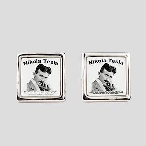 Tesla: Inseparable Square Cufflinks