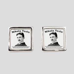 Tesla: Individual Square Cufflinks