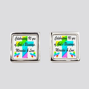 90 YR OLD BLESSING Square Cufflinks