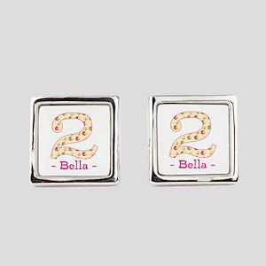 Customized Birdies 2nd Birthday Square Cufflinks