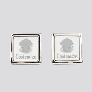Baby Elephant Square Cufflinks