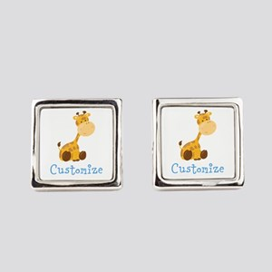 Custom Baby Giraffe Square Cufflinks