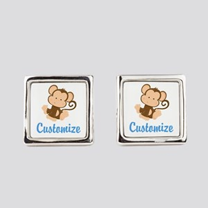 Custom Monkey Square Cufflinks