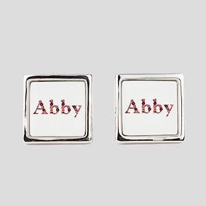 Abby Pink Flowers Cufflinks
