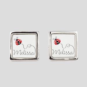 Ladybug Melissa Square Cufflinks