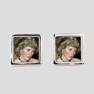HRH Princess Diana Germany 1987 Square Cufflinks