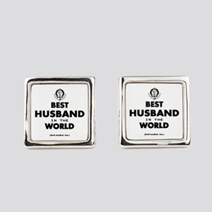 The Best in the World – Husband Square Cufflinks
