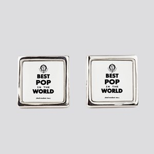 The Best in the World – Pop Square Cufflinks
