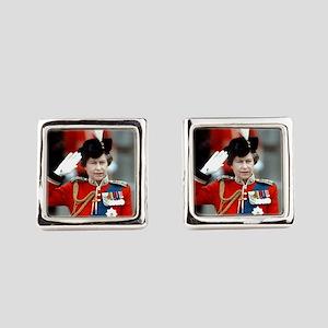 Stunning! HM Queen Elizabeth II Square Cufflinks