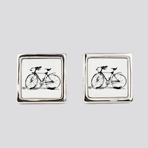 bicycle Square Cufflinks
