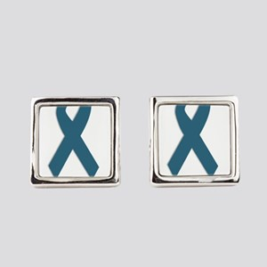 Beautiful. Teal Ribbon Square Cufflinks