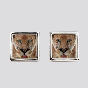 Saber Toothed Ttiger or Smilodon Square Cufflinks