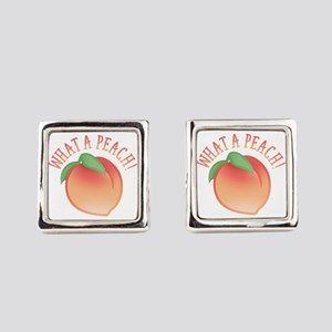 What A Peach Square Cufflinks