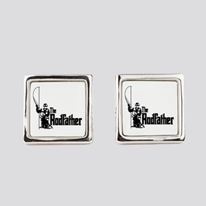 The Rodfather Fun Fishing Quote Square Cufflinks