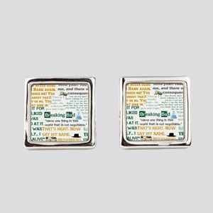 Walter White Quotes Square Cufflinks