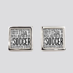 Soccer Word Cloud Square Cufflinks