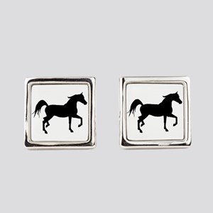 Arabian Horse Silhouette Cufflinks