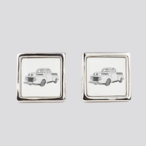 1950 Ford F1 Square Cufflinks