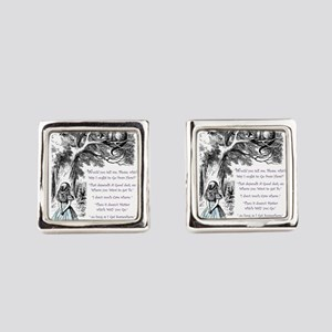Where Do You Want To Go? Square Cufflinks
