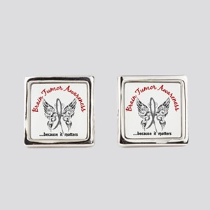 Brain Tumor Butterfly 6.1 Square Cufflinks
