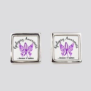 Epilepsy Butterfly 6.1 Square Cufflinks