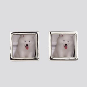 puppy samoyed Square Cufflinks