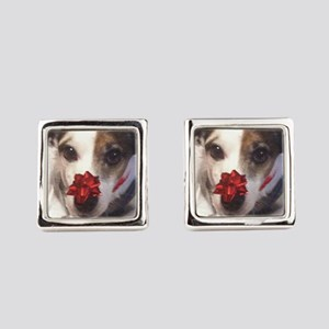 Gromit Dressed As A Gift! Square Cufflinks
