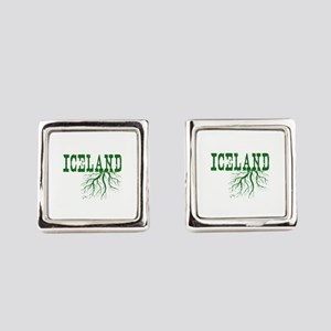Iceland Roots Square Cufflinks