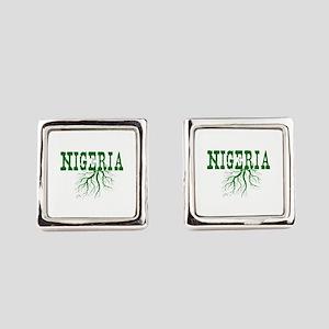 Nigeria Roots Square Cufflinks