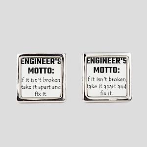 Engineer's Motto: If It Isn't Bro Square Cufflinks