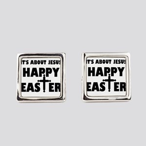 It's Not About The Bunny It's Abo Square Cufflinks