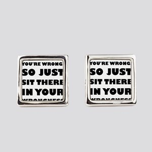 No. You're Just Wrong! Square Cufflinks