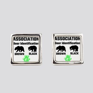 Wildlife Association Bear Identif Square Cufflinks