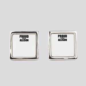 Proud to be ALLISON Square Cufflinks