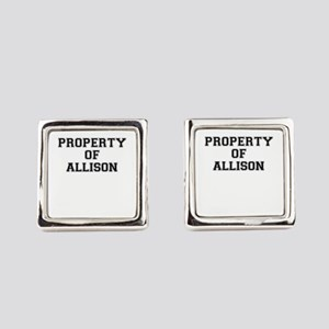 Property of ALLISON Square Cufflinks