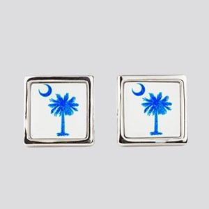 PALM AND CRESCENT Square Cufflinks