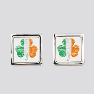 Vintage Irish Flag Shamrock Cufflinks