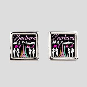 40TH PARIS GIRL Square Cufflinks