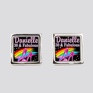 30 AND FABULOUS Square Cufflinks