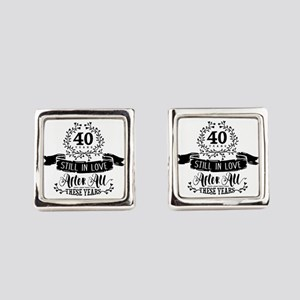 40th Anniversary Square Cufflinks