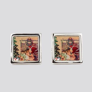 The Night Before Christmas Square Cufflinks