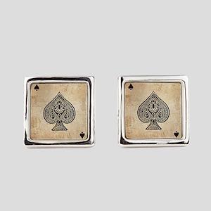 Ace Of Spades Square Cufflinks