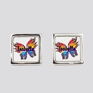Personalize Butterfly Square Cufflinks
