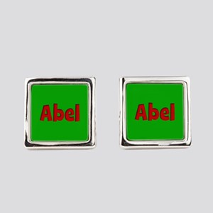Abel Green and Red Cufflinks