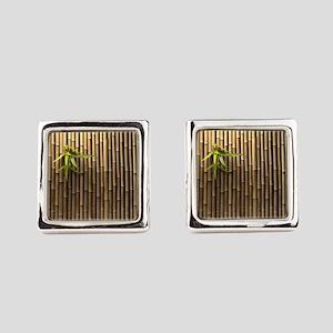 Bamboo Wall Square Cufflinks