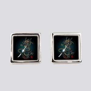 Dragon Katana01 Cufflinks