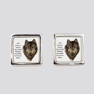 Wolf Totem Animal Guide Watercolor Nature Art Cuff