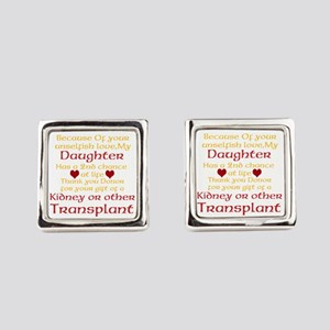 Personalize Transplant Donor Thank You Cufflinks